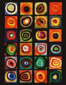 Blankbook W.Kandinsky (1866-1944), colors of squares